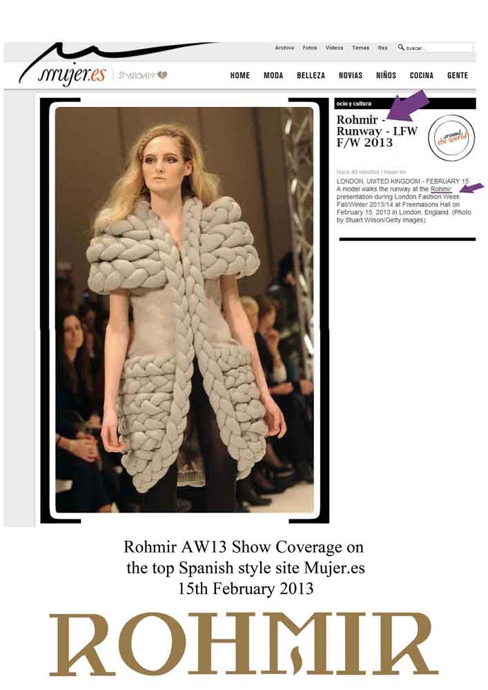 Rohmir AW13 Show Coverage on the top Spanish style site Mujer