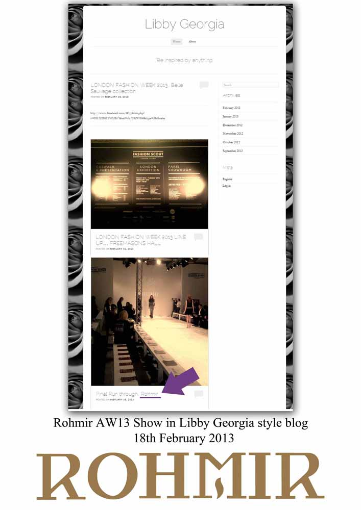 Rohmir AW13 Show in Libby Georgia style blog 18th February 2013