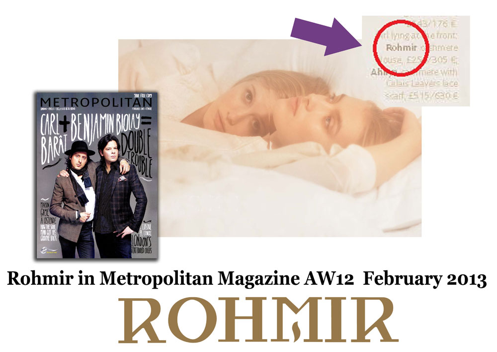 Rohmir in Metropolitan Magazine AW12  February 2013