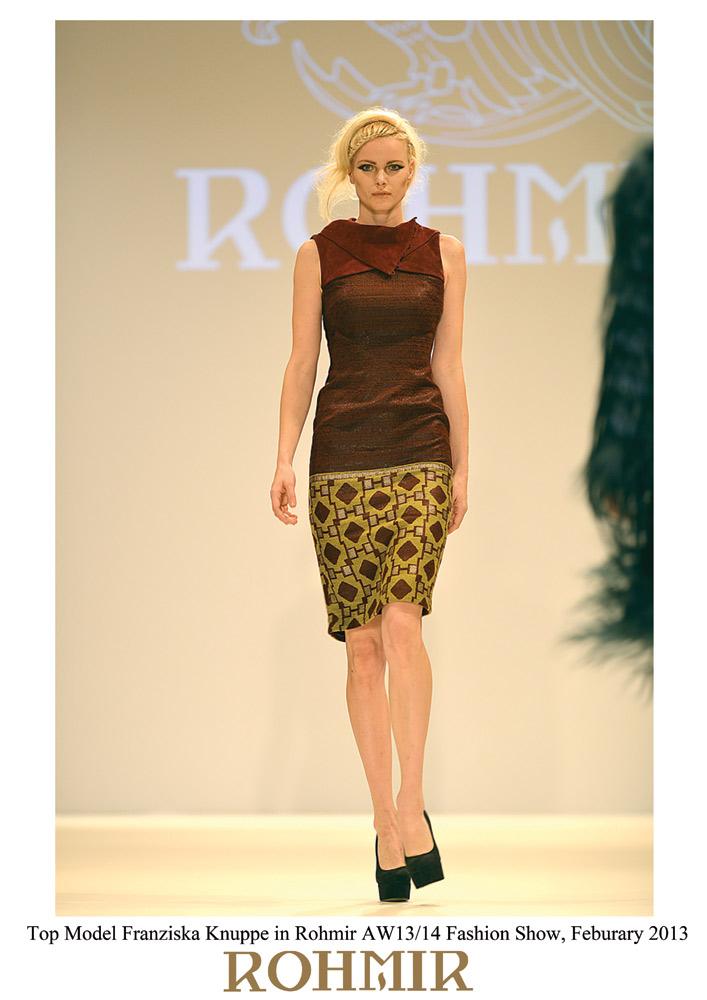 Top-Model-Franziska-Knuppe-in-Rohmir-AW1314-Fashion-Show,-Feburary-2013--2