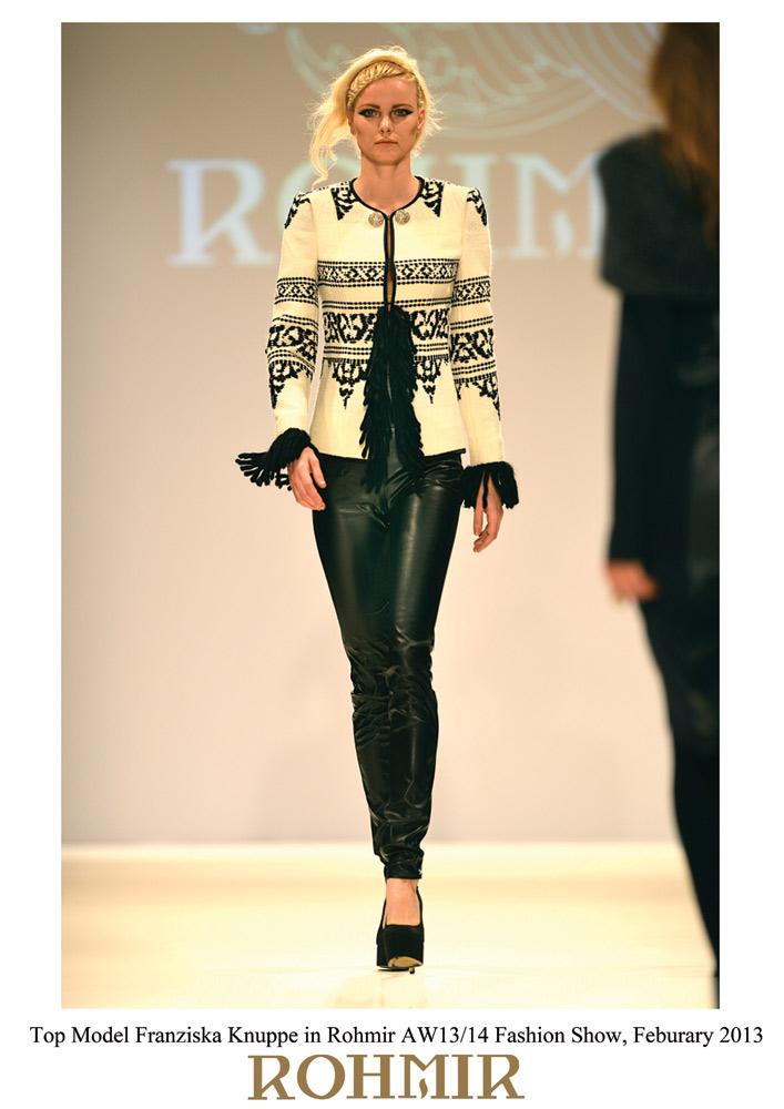 Top-Model-Franziska-Knuppe-in-Rohmir-AW1314-Fashion-Show,-Feburary-2013