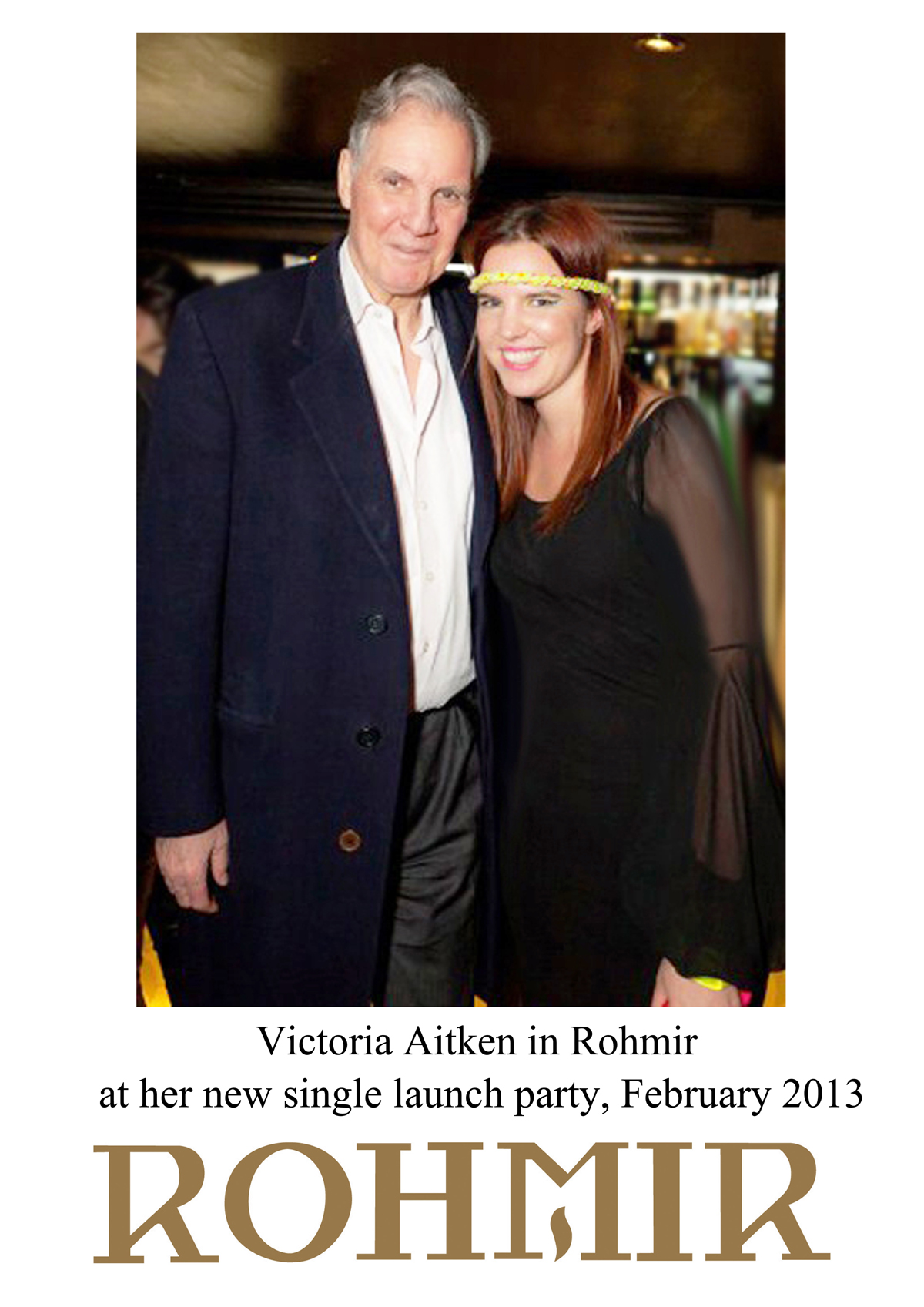 Victoria Aitken in Rohmir at her new single launch party Feb 2013