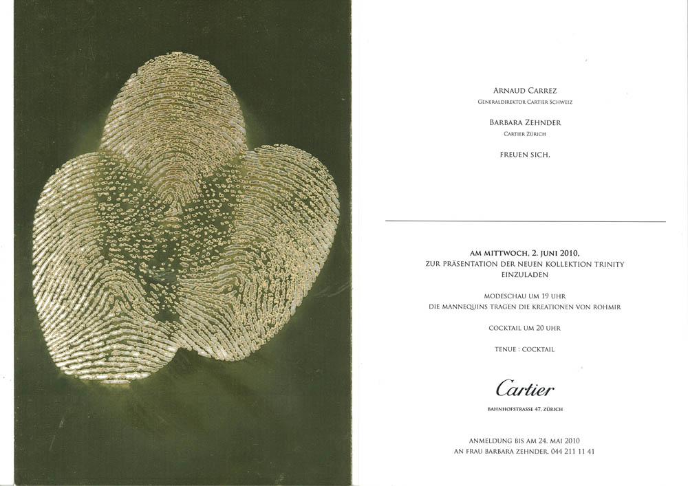 cartier special event invitation card