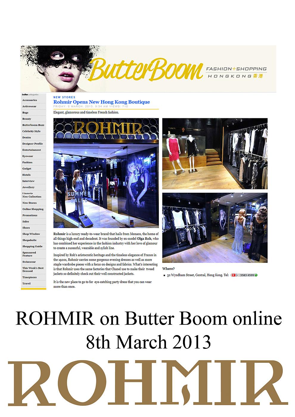 ROHMIR on Butter Boom online 8th Mar 2013