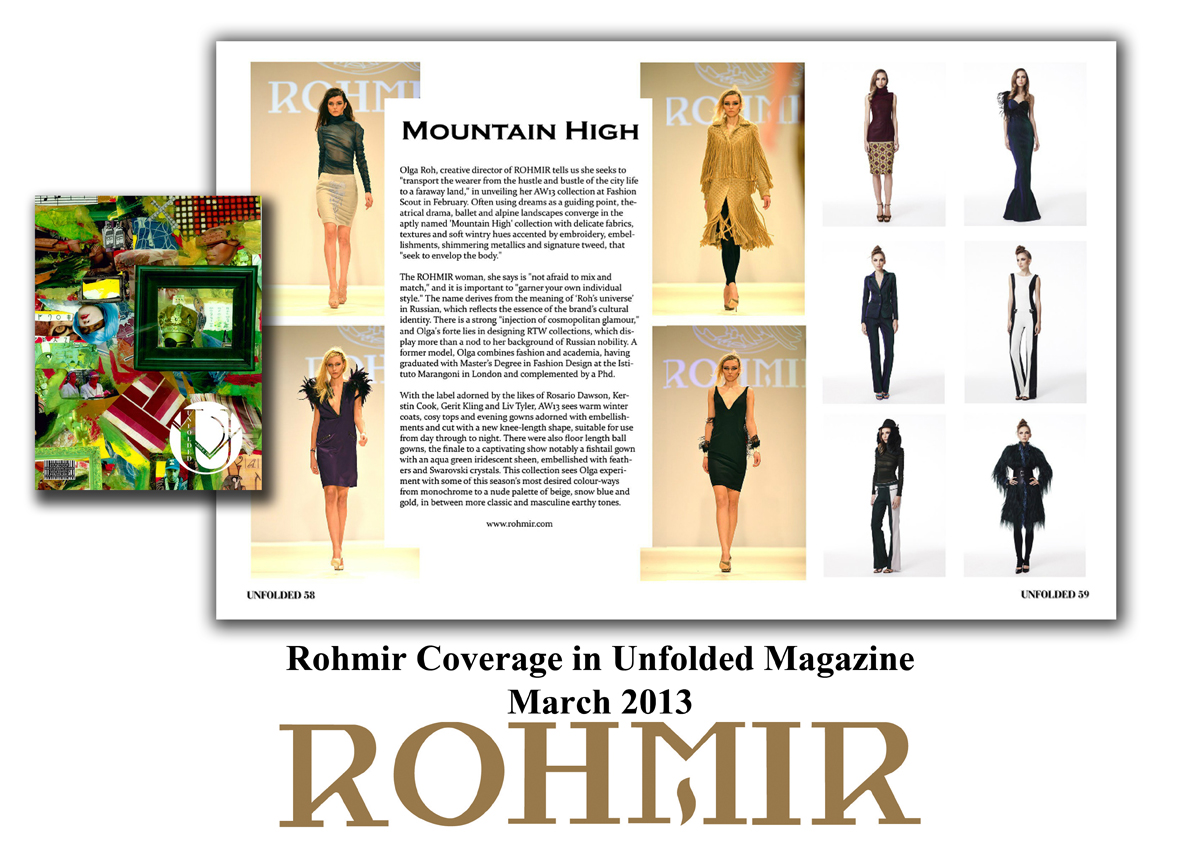 Rohmir Coverage in Unfolded Magazine