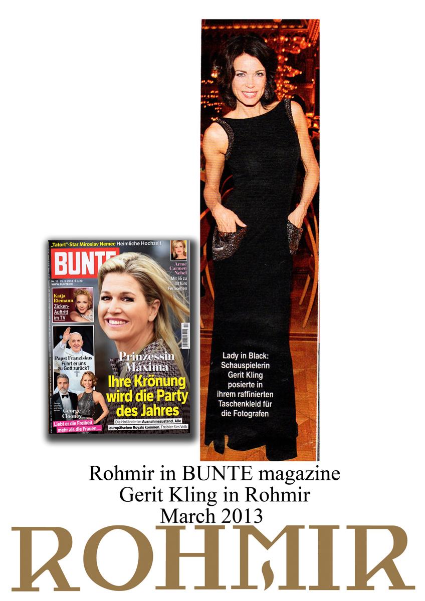 Rohmir in Bunte magazine Gerit Kling in Rohmir march 2013