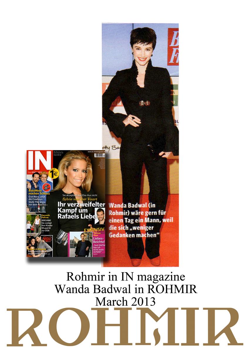 Rohmir in IN magazine Wanda Badwal in ROHMIR march 2013