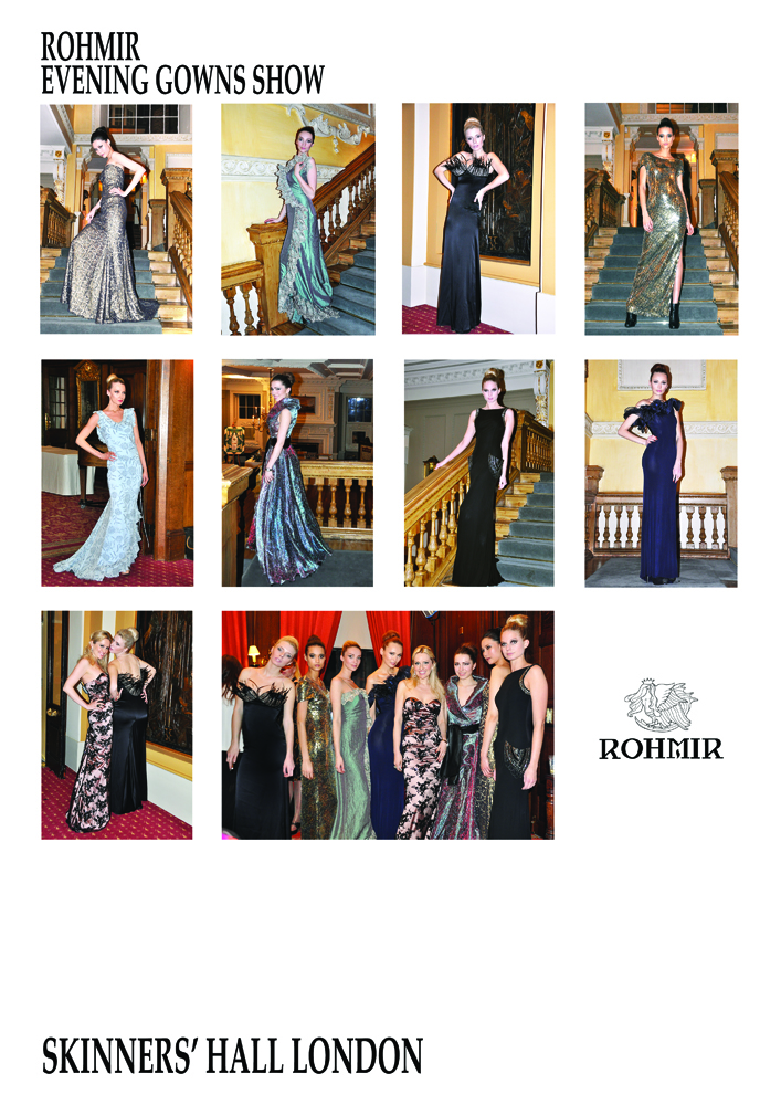 Rohmir Evening Gowns Show at Skinners' Hall London, March 13