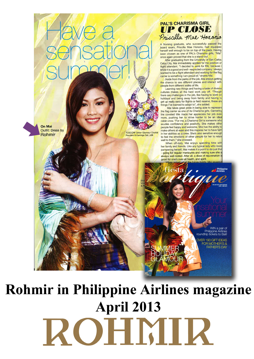 Rohmir in Philippine airlines magazine
