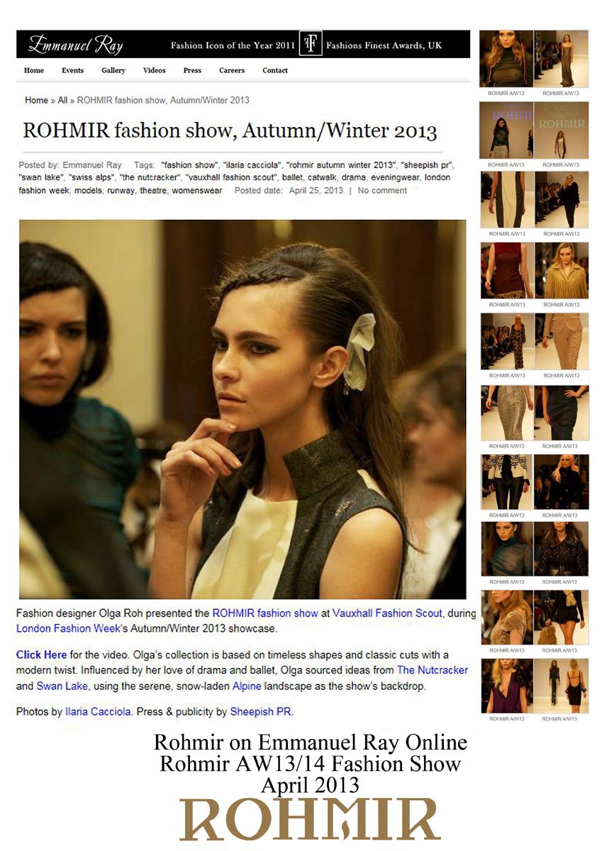 Rohmir on Emmanel Ray Online april 2013