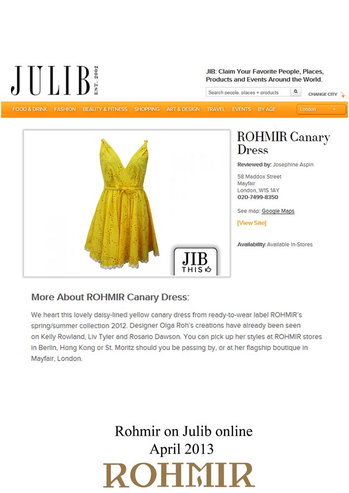 Rohmir on Julib Online april 2013