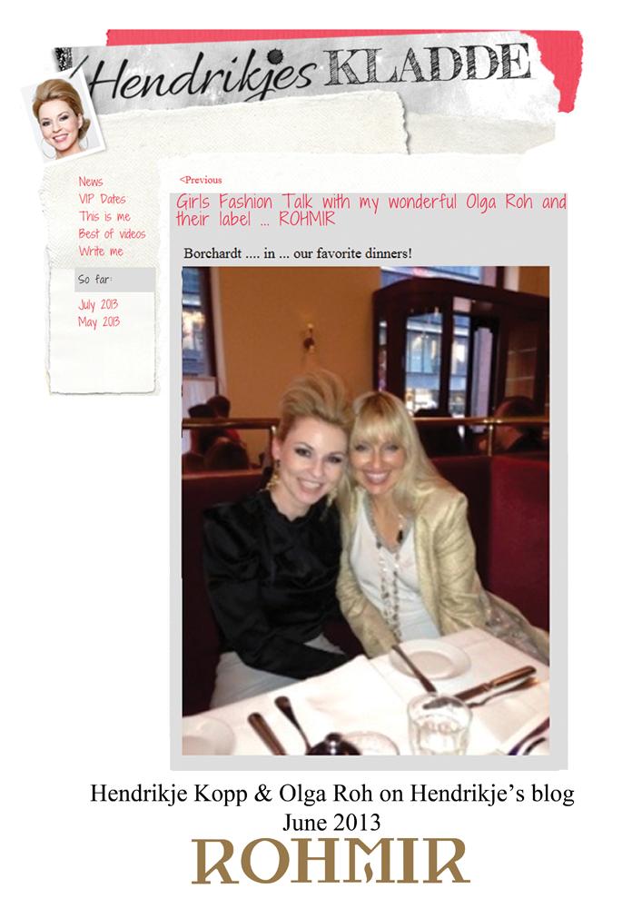 Hendrikje Kopp & Olga Roh on Hendrikje's blog