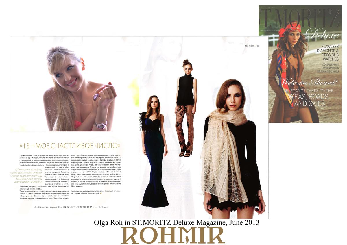 Olga Roh in ST MORITZ Deluxe Magazine June 2013 -1
