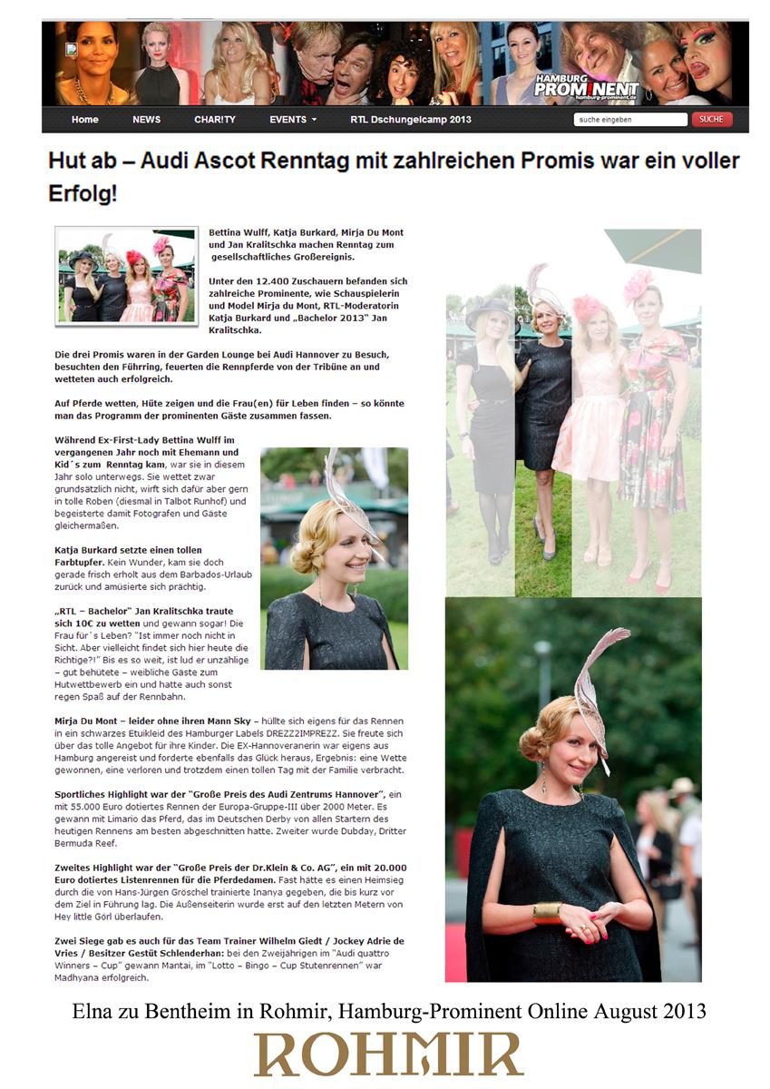 Elna zu Bentheim in Rohmir, Hamburg-Prominent Online August 2013