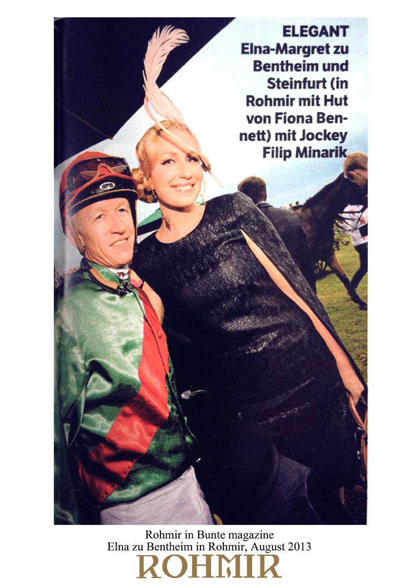 Rohmir in Bunte magazine, Elna zu Bentheim in Rohmir August 2013