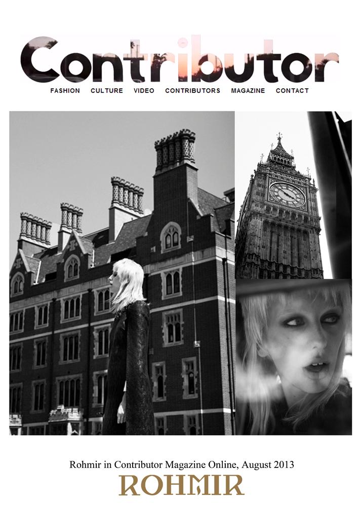 Rohmir in Contributor Magazine Online, August 2013