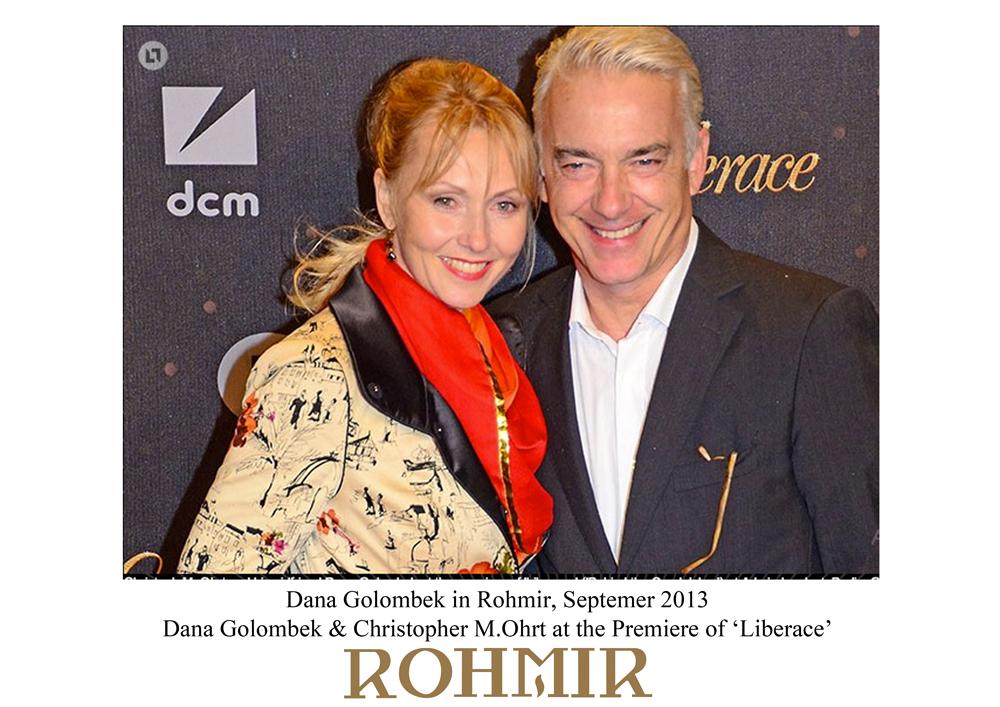 Dana Golombek in Rohmir, Septemer 2013  Dana Golombek & Christopher M at the premiere of ' Liberace' -2
