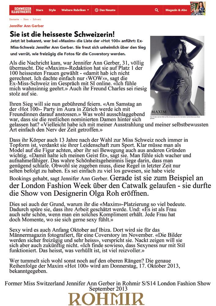 Former-Miss-Switzerland-Jennifer-Ann-Gerber-in-Rohmir-SS14-London-Fashion-Show,-September-2013--2