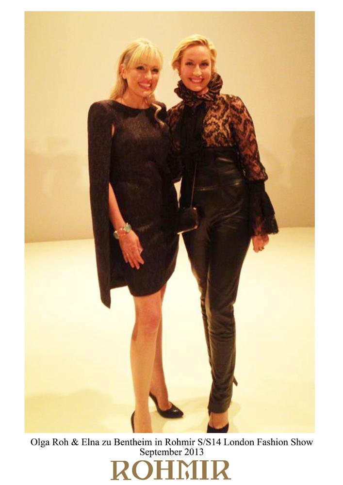 Olga Roh & Elna zu Bentheim in Rohmir SS14 London Fashion Show, Sept 2013