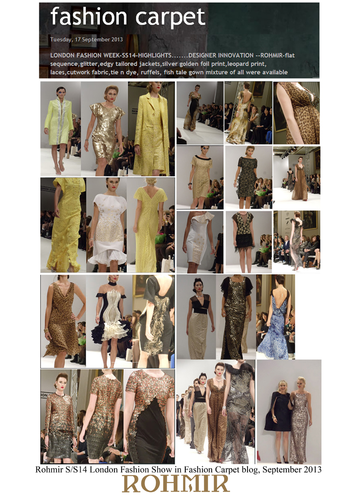 Rohmir SS14 London Fashion Show in Fashion Carpet blog, September 2013
