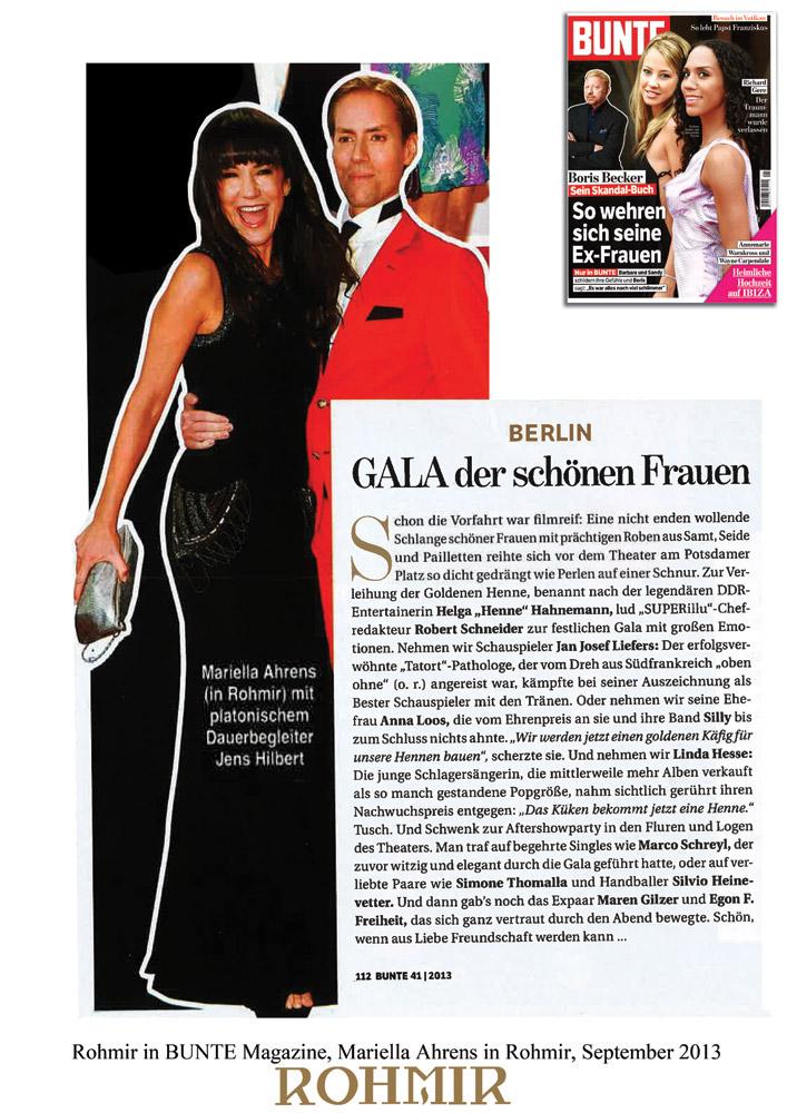 Rohmir-in-BUNTE-Magazine,-Mariella-Ahrens-in-Rohmir,-September-2013