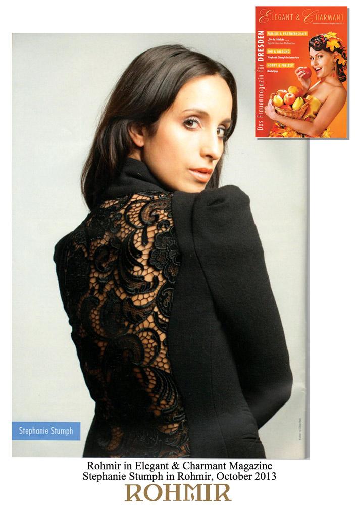 Rohmir-in-Elegant-&-Charmant-Magazine,-stephanie-stumph-in-rohmir-oct-2013