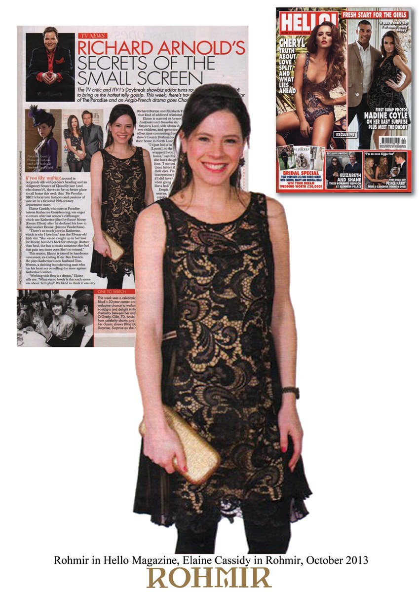 Rohmir-in-Hello-Magazine,-Elaine-Cassidy-in-Rohmir,-October-2013