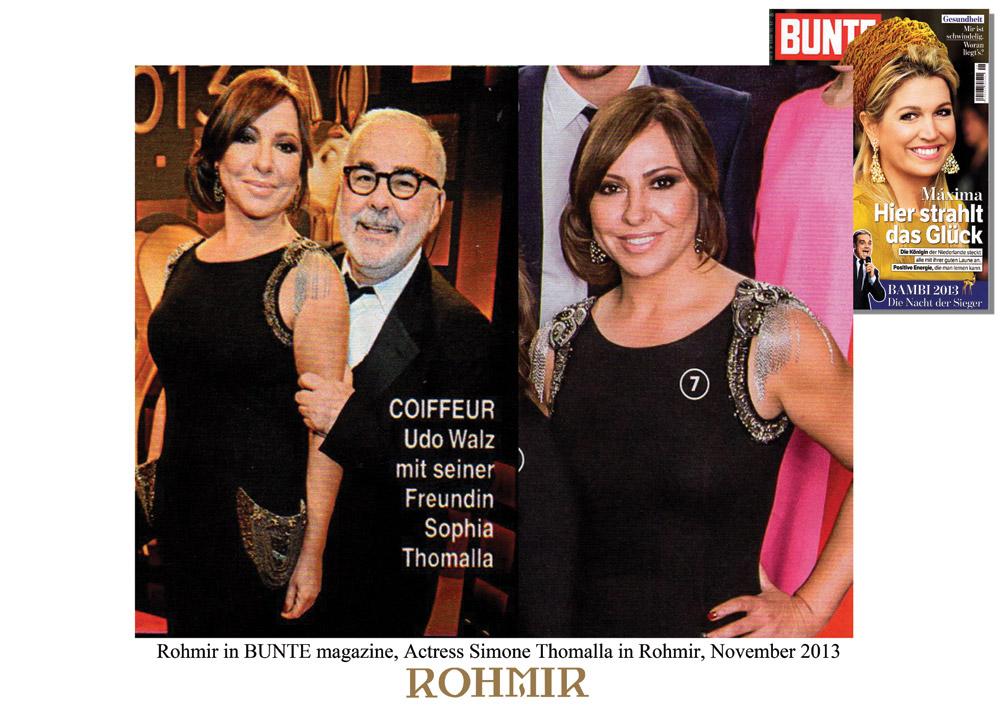 Rohmir-in-BUNTE-magazine,-Actress-Simone-Thomalla-in-Rohmir,-November-2013