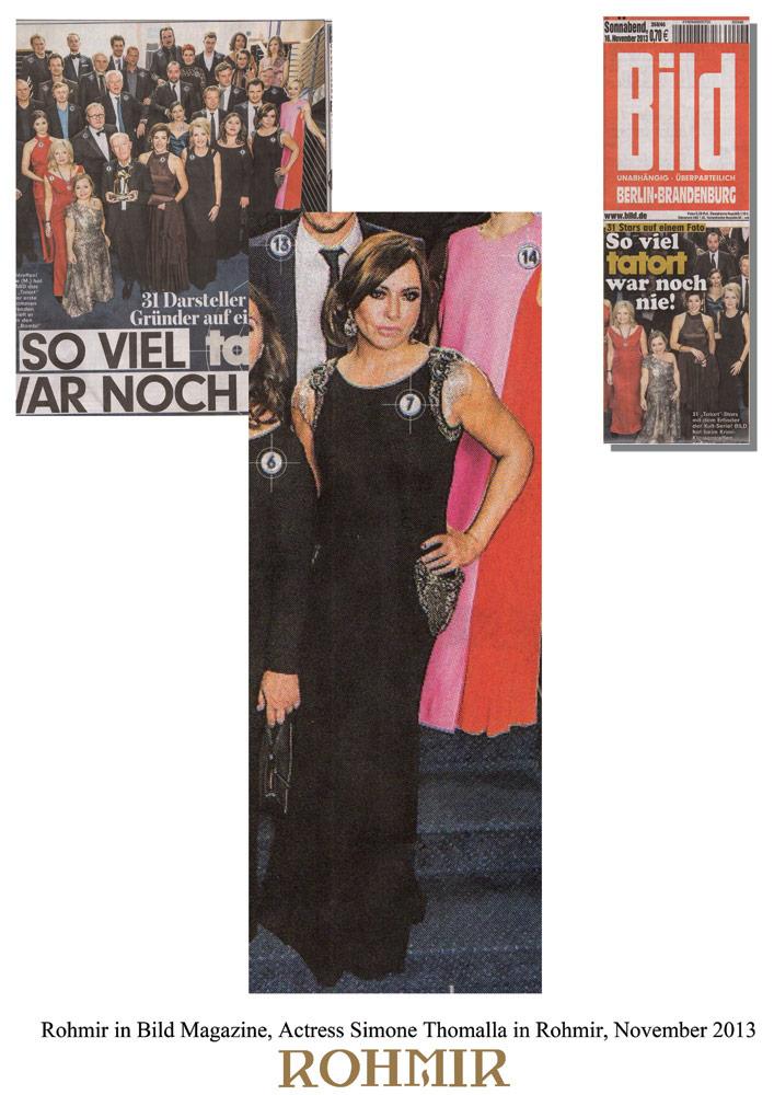 Rohmir-in-Bild-Magazine,-Actress-Simone-Thomalla-in-Rohmir,-November-2013.