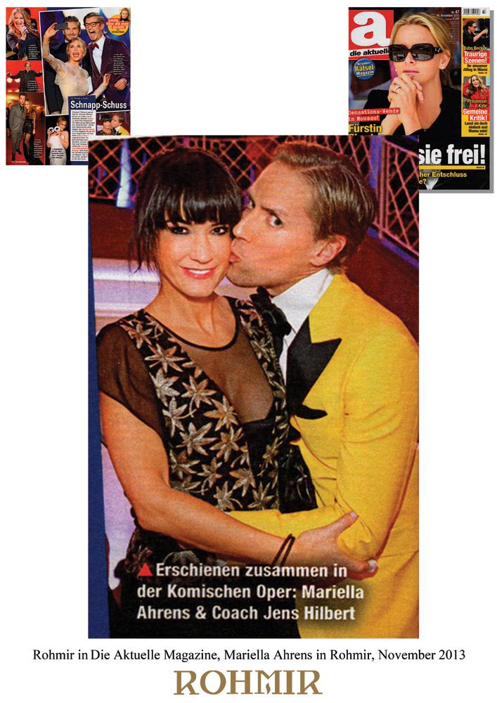 Rohmir-in-Die-Aktuelle-Magazine,-Mariella-Ahrens-in-Rohmir,-November-2013