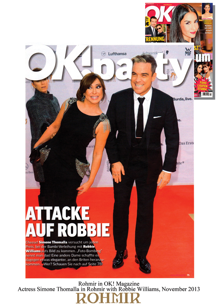 Rohmir-in-OK!-magazine,-Actress-Simone-Thomalla-in-Rohmir-with-Robbie-Williams,-November-2013