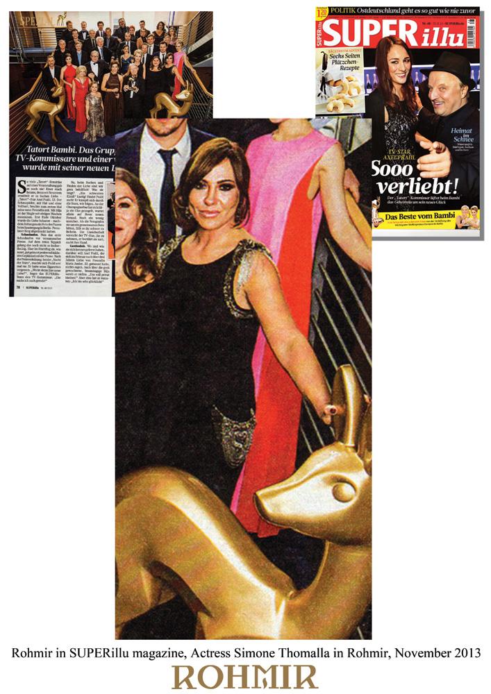 Rohmir-in-SUPERillu-magazine,-Actress-Simone-Thomalla-in-Rohmir,-November-2013