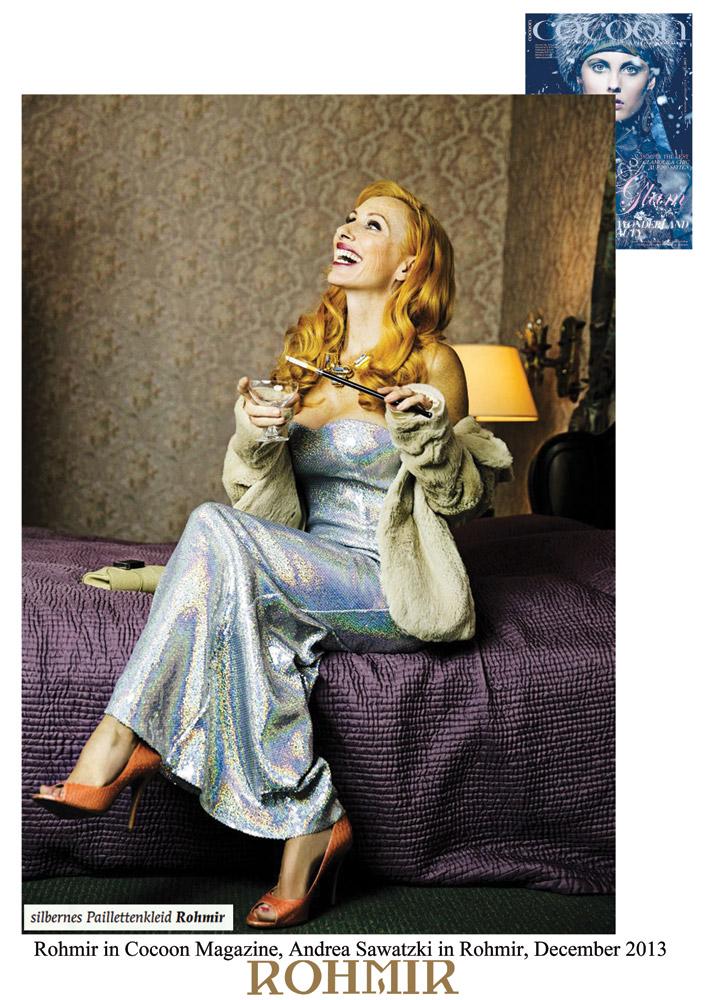 Rohmir-in-Cocoon-Magazine,-Andrea-Sawatzki-in-Rohmir,-December-2013