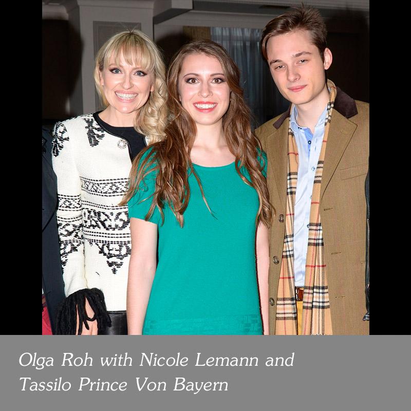 Olga-Roh-with-Nicole-Lemann-and-Tassilo-Prince-Von-Bayern