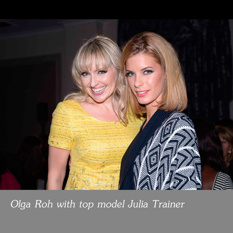 Olga-Roh-with-top-model-Julia-Trainer