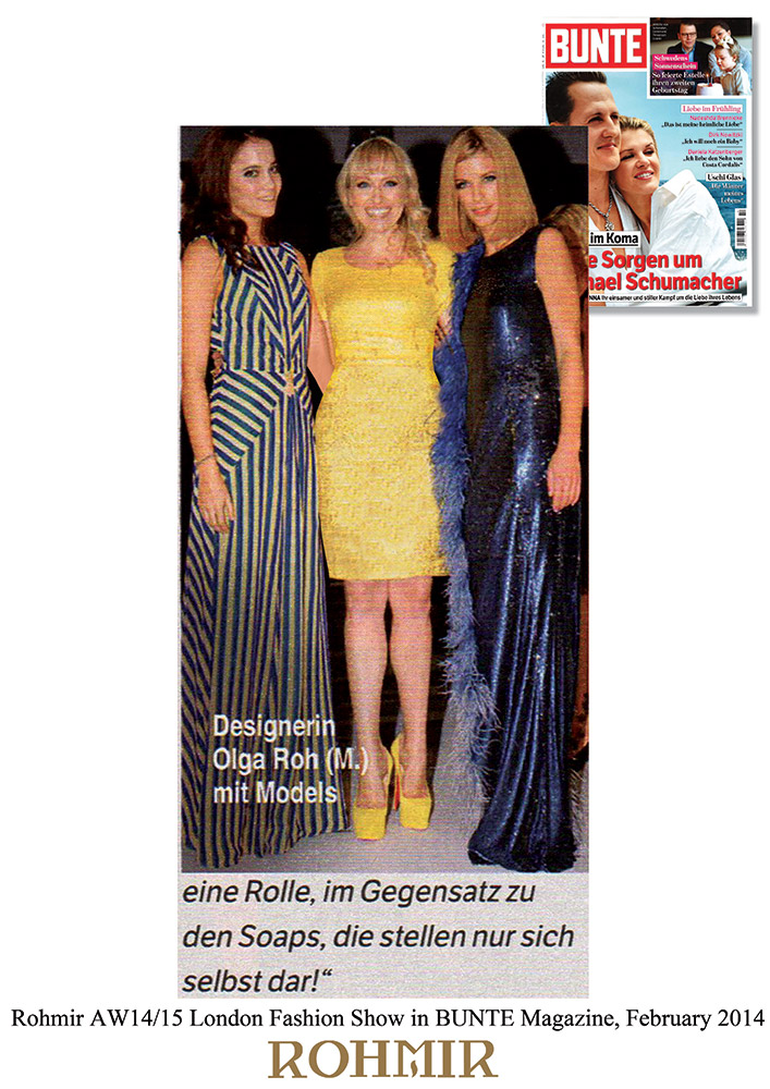 Rohmir-AW1415-London-Fashion-Show-in-Bunte-Magazine-February-2014