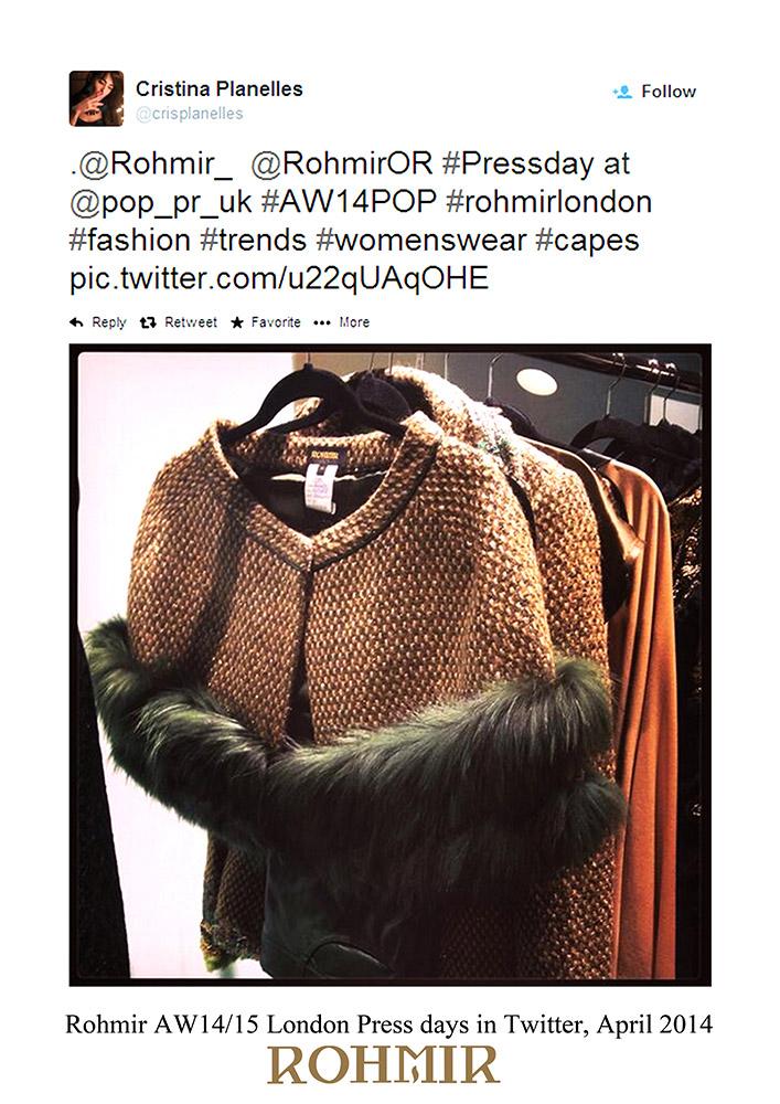 Rohmir-AW1415-London-Press-days-in-Twitter-April-2014