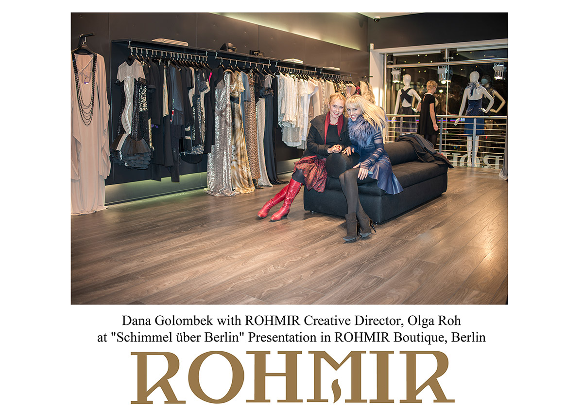 Dana-Golombek-with-ROHMIR-Creative-Director-Olga-Roh-at