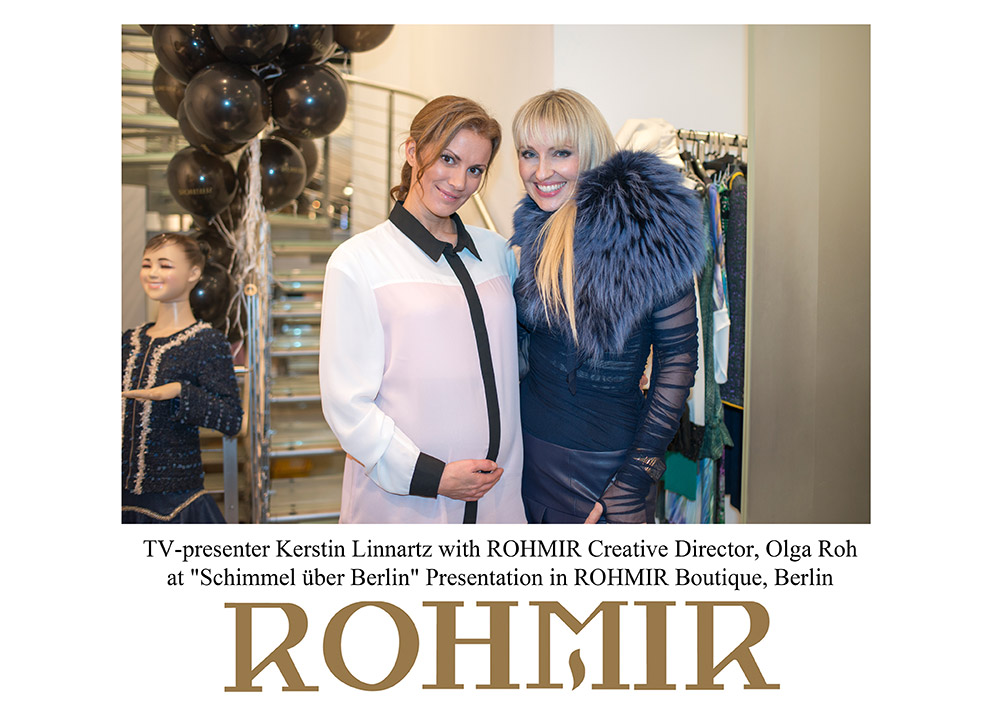 TV-presenter-Kerstin-Linnartz-with-ROHMIR-Creative-Director-Olga-Roh