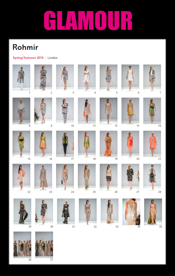 Glamour magazine online