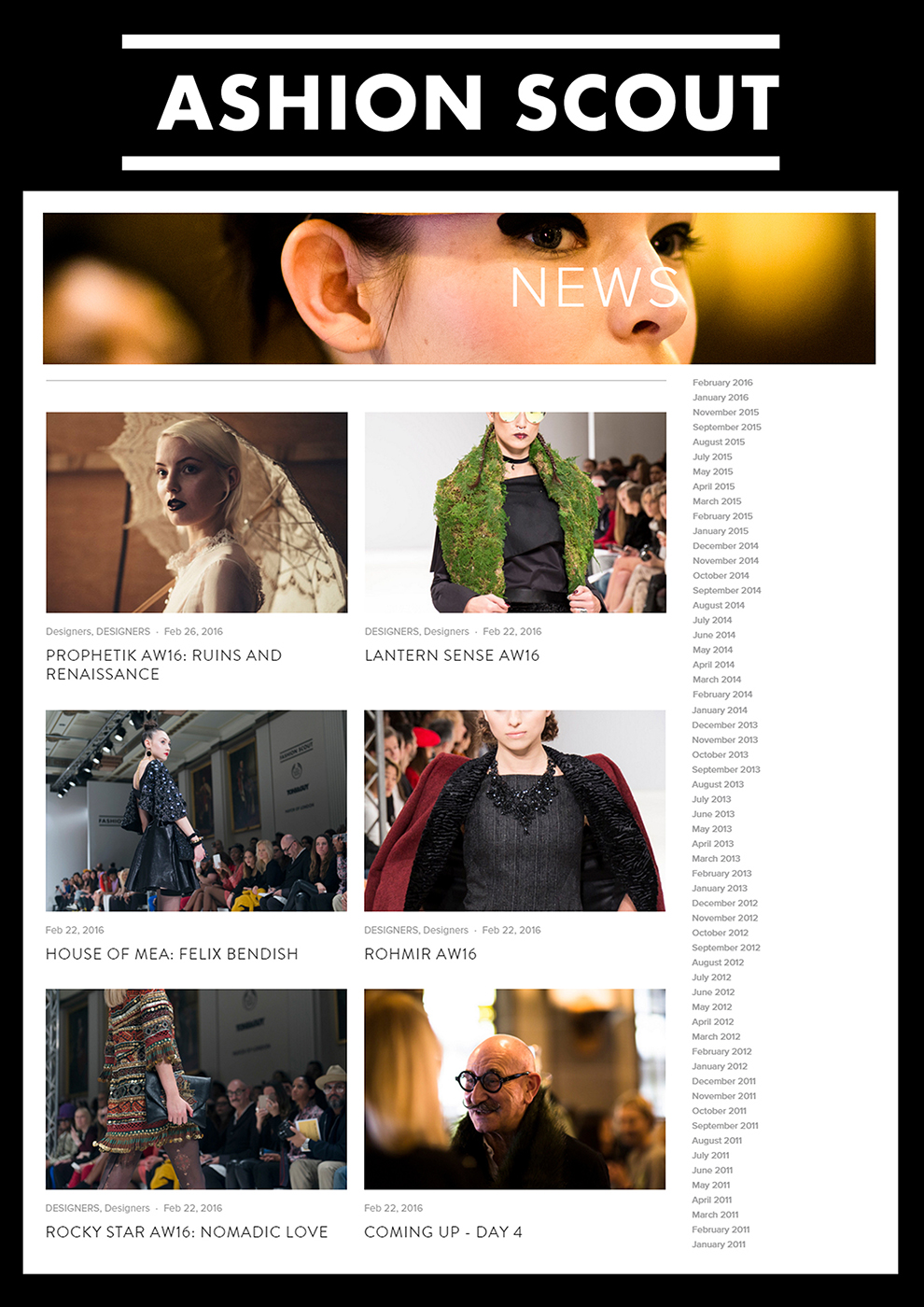 FASHION SCOUT HOMEPAGE