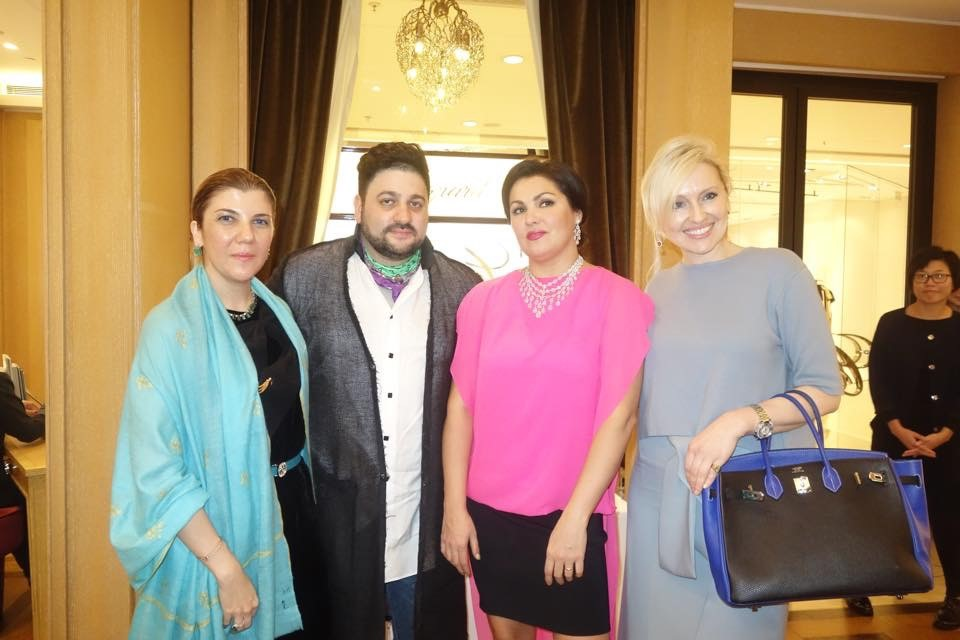 Janana Suleymanli, Yusif Eyvazov, Anna Netrebko, and Olga Roh (from left to right) 2
