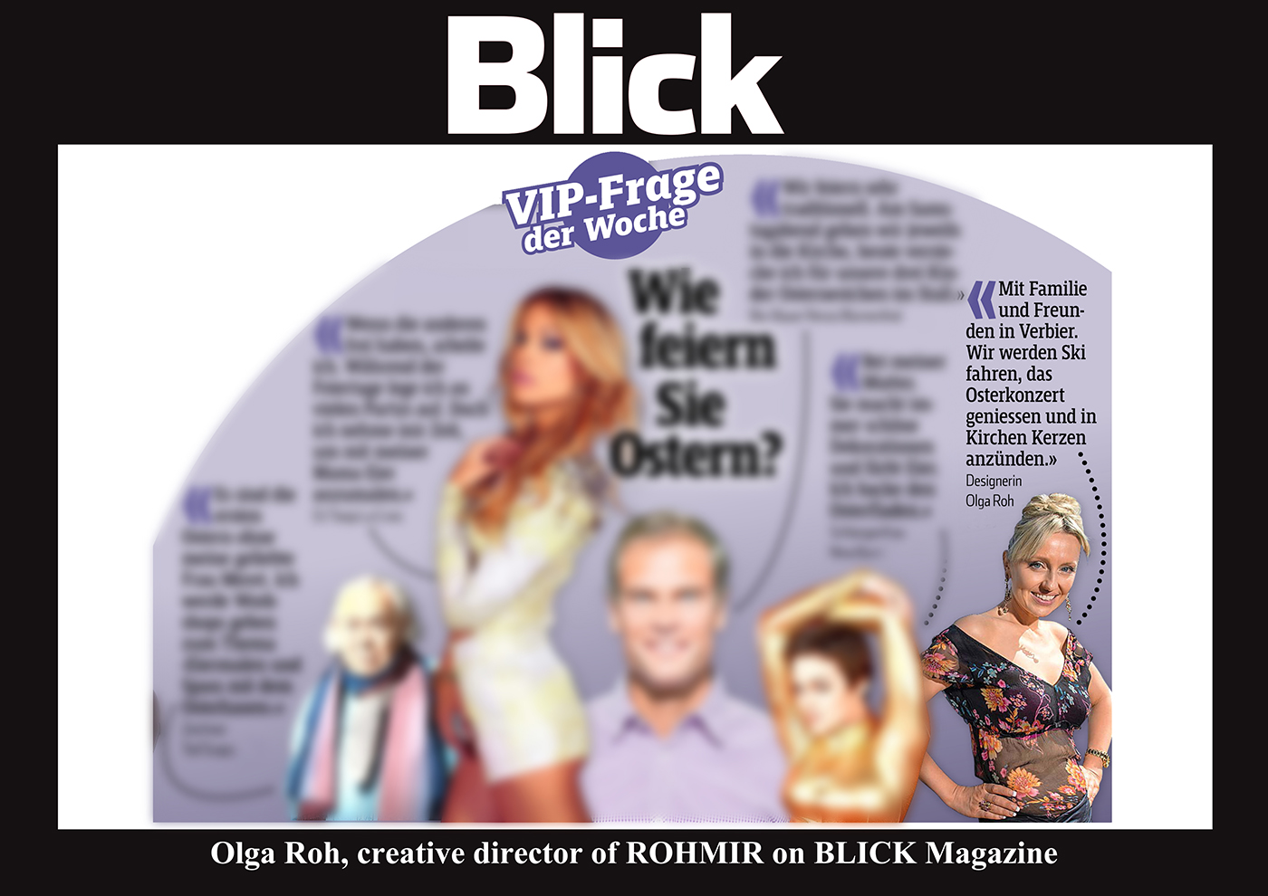 Olga Roh, creative director of ROHMIR on BLICK Magazine