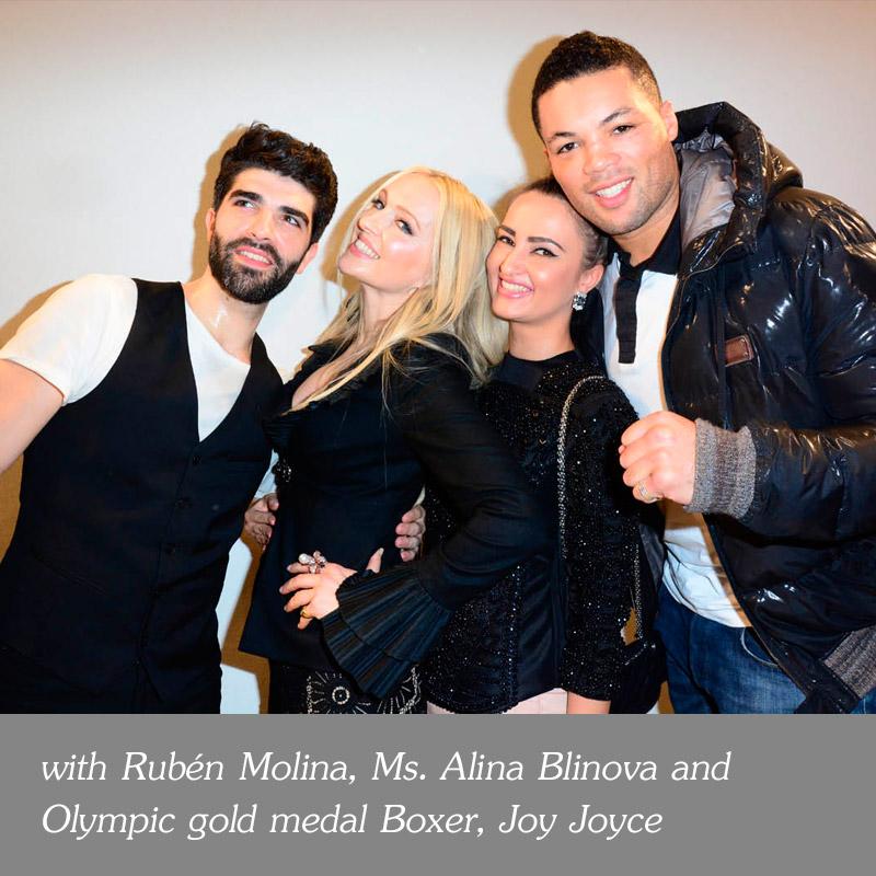 with-Ruben-Molina-Ms-Alina-Blinova-and-Olympic-gold-medal-Boxer-Joy-Joyce
